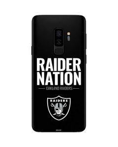 Oakland Raiders Team Motto Galaxy S9 Plus Skin