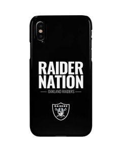Oakland Raiders Team Motto iPhone XS Max Lite Case