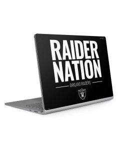 Oakland Raiders Team Motto Surface Book 2 13.5in Skin