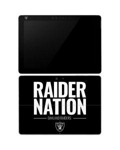 Oakland Raiders Team Motto Surface Go Skin