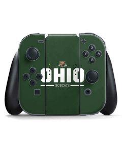 Ohio Bobcats Logo Nintendo Switch Joy Con Controller Skin