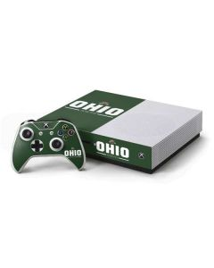 Ohio Bobcats Logo Xbox One S Console and Controller Bundle Skin