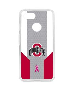 Ohio State Breast Cancer Google Pixel 3 Clear Case