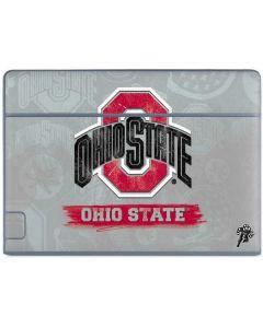 Ohio State Distressed Logo Galaxy Book Keyboard Folio 10.6in Skin