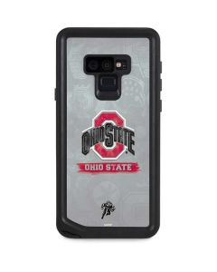 Ohio State Distressed Logo Galaxy Note 9 Waterproof Case