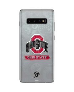 Ohio State Distressed Logo Galaxy S10 Plus Skin