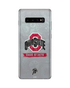 Ohio State Distressed Logo Galaxy S10 Plus Skin