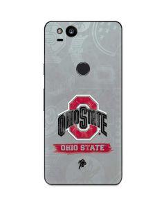 Ohio State Distressed Logo Google Pixel 2 Skin