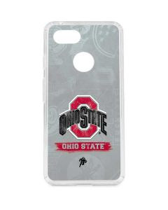 Ohio State Distressed Logo Google Pixel 3 Clear Case