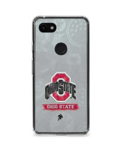 Ohio State Distressed Logo Google Pixel 3a Clear Case