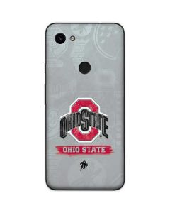 Ohio State Distressed Logo Google Pixel 3a Skin