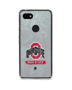 Ohio State Distressed Logo Google Pixel 3a XL Clear Case