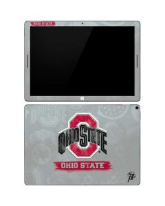Ohio State Distressed Logo Google Pixel Slate Skin