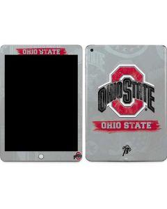 Ohio State Distressed Logo Apple iPad Skin