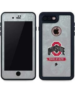 Ohio State Distressed Logo iPhone 8 Plus Waterproof Case