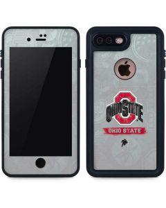 Ohio State Distressed Logo iPhone 8 Plus Waterproof Case