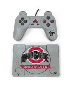 Ohio State Distressed Logo PlayStation Classic Bundle Skin