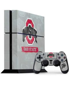 Ohio State Distressed Logo PS4 Console and Controller Bundle Skin