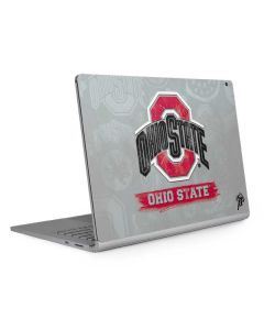 Ohio State Distressed Logo Surface Book 2 13.5in Skin