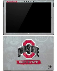 Ohio State Distressed Logo Surface Pro (2017) Skin