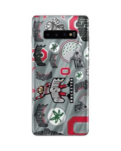 Ohio State Pattern Galaxy S10 Plus Skin