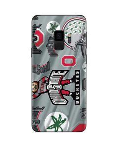 Ohio State Pattern Galaxy S9 Skin