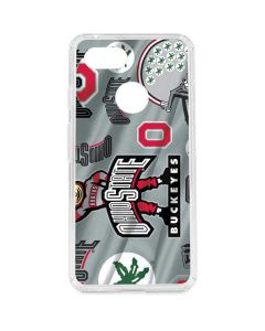 Ohio State Pattern Google Pixel 3 Clear Case