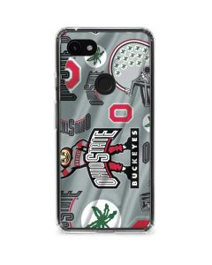Ohio State Pattern Google Pixel 3a Clear Case