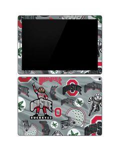 Ohio State Pattern Google Pixel Slate Skin