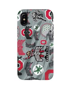 Ohio State Pattern iPhone X Pro Case