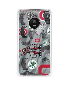 Ohio State Pattern Moto G5 Plus Clear Case