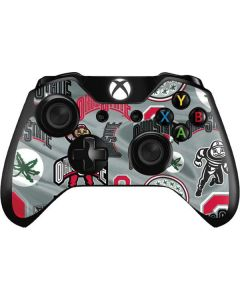 Ohio State Pattern Xbox One Controller Skin