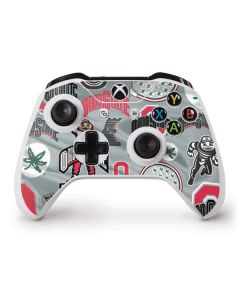 Ohio State Pattern Xbox One S Controller Skin