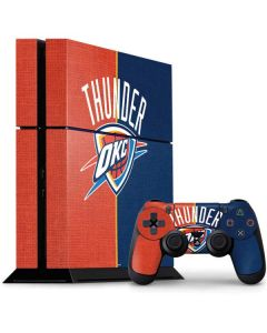 OKC Thunder Split PS4 Console and Controller Bundle Skin