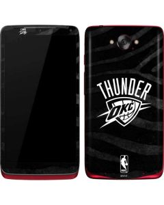 Oklahoma City Thunder Black Animal Print Motorola Droid Skin