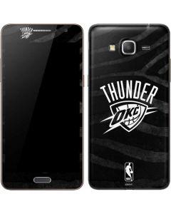 Oklahoma City Thunder Black Animal Print Galaxy Grand Prime Skin