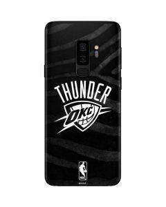 Oklahoma City Thunder Black Animal Print Galaxy S9 Plus Skin
