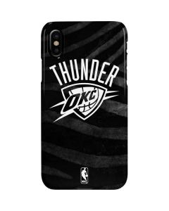 Oklahoma City Thunder Black Animal Print iPhone XS Max Lite Case