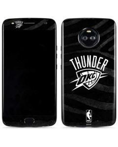Oklahoma City Thunder Black Animal Print Moto X4 Skin