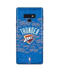 Oklahoma City Thunder Blast Galaxy Note 9 Skin