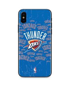 Oklahoma City Thunder Blast iPhone XS Max Skin