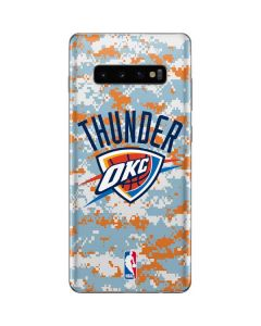 Oklahoma City Thunder Digi Camo Galaxy S10 Plus Skin