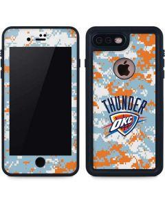 Oklahoma City Thunder Digi Camo iPhone 8 Plus Waterproof Case