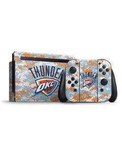 Oklahoma City Thunder Digi Camo Nintendo Switch Bundle Skin
