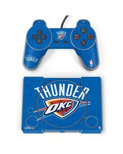 Oklahoma City Thunder Primary Logo PlayStation Classic Bundle Skin