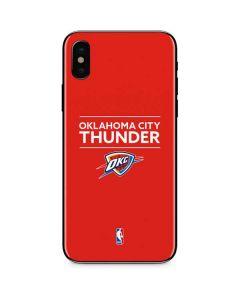 Oklahoma City Thunder Standard - Orange iPhone X Skin