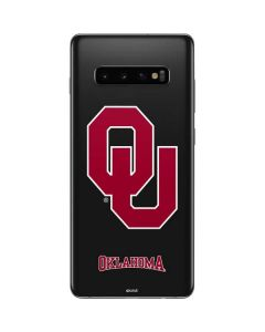 Oklahoma Sooners Black Galaxy S10 Plus Skin