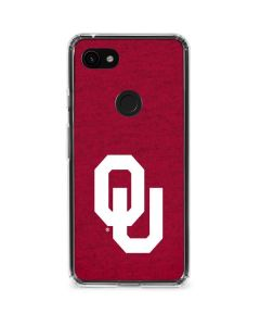 Oklahoma Sooners Red Google Pixel 3a Clear Case