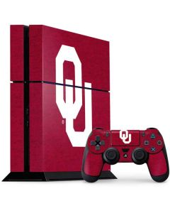 Oklahoma Sooners Red PS4 Console and Controller Bundle Skin