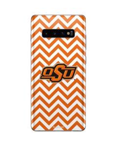 Oklahoma State Chevron Print Galaxy S10 Plus Skin